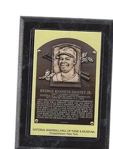 ccbb4b04e0 ken griffey jr junior postcard plaque wood wooden hof hall of fame ...