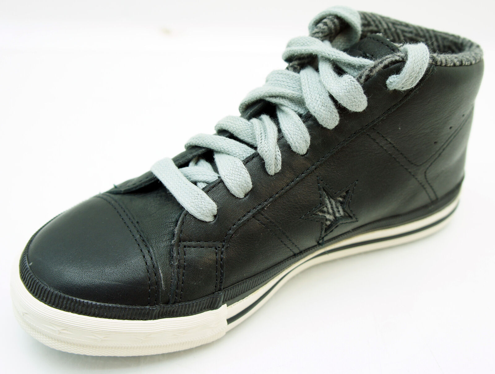 Converse One Star Mid chaussures Turnchaussures Cuir noir Eur 37,5 Uk 4,5 Us 5