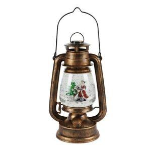 Led Lampen Weihnachtsdeko.Deko Led Petroleumlampe Mit Glitter Weihnachtsdeko Beleuchtet