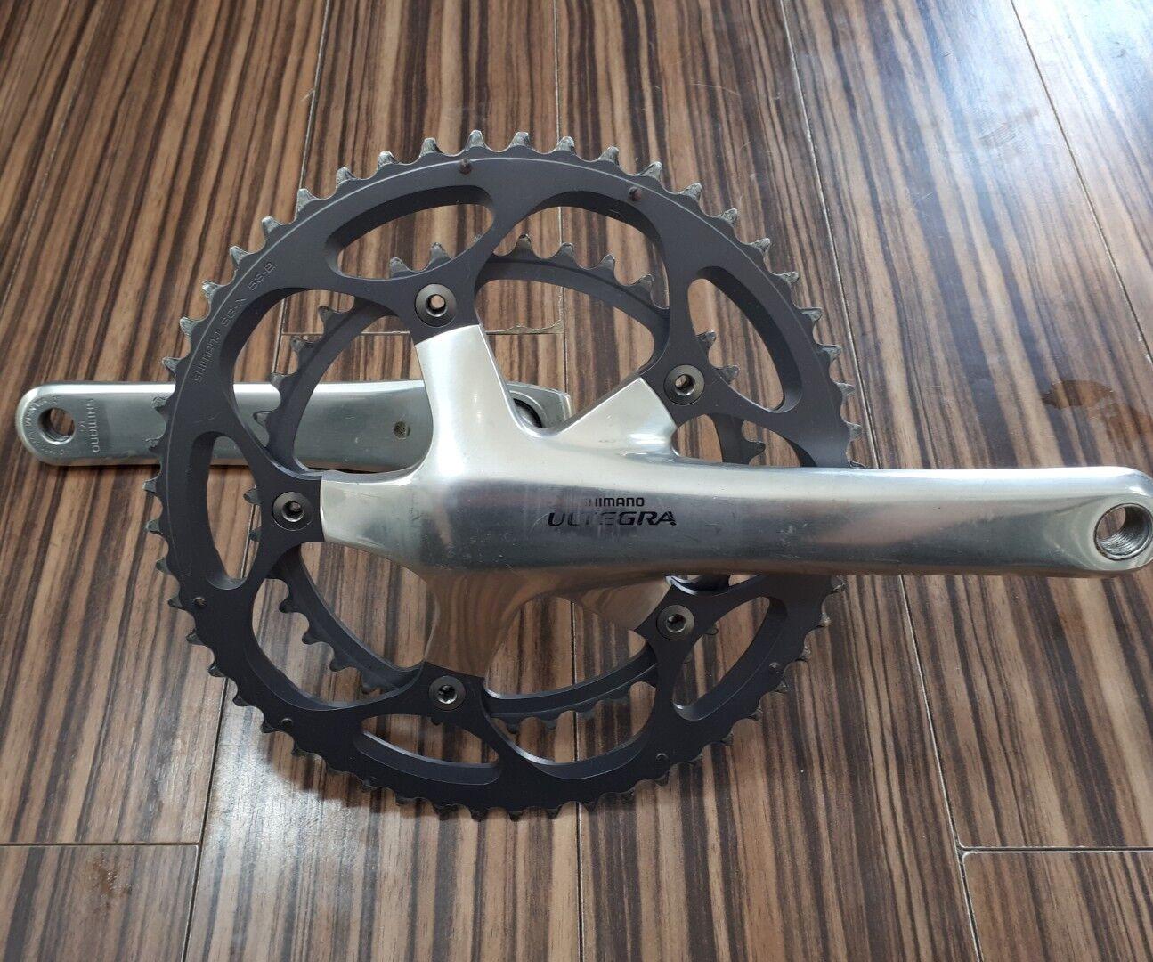 SHIuomoO ULTEGRA pedaliera in 5339 175mm uomoovelle 6600 argentoo argentoo argentoo 10 Velocità Strada Bicicletta CX TT 47d
