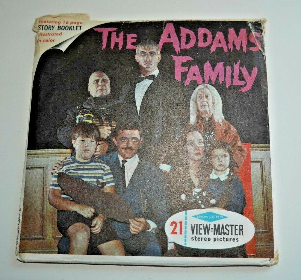 THE ADDAMS FAMILY VIEWMASTER REELS 1965 COMPLETE SET B486 VERY RARE   D251