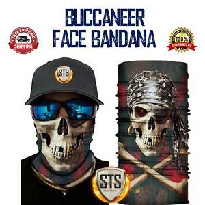 Biker-bandanas-tube-scarf-face-cover-shield-neck-gaiter-camo-skull-floral-etc