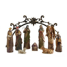 Elements 10 Piece Gold Accent Nativity Set