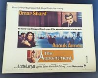 Original 1969 THE APPOINTMENT Half Sheet Movie Poster 22 x 28 OMAR SHARIF