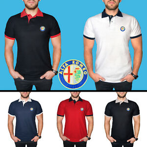 Alfa-Romeo-Polo-T-Shirt-COTTON-EMBROIDERED-Auto-Car-Logo-Tee-Mens-Clothing-Gift
