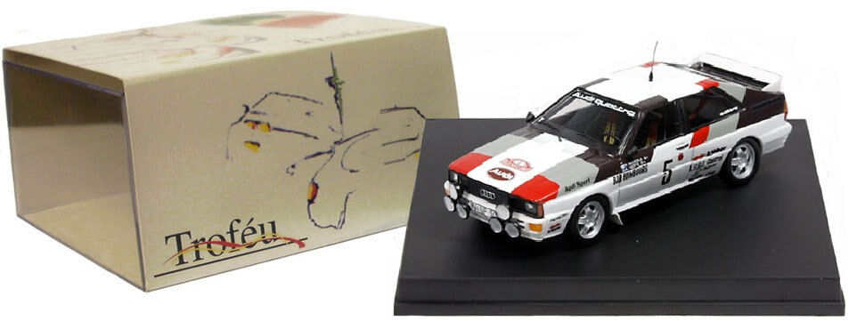 Trofeu 1602 Audi Quattro Monte Carlo Rally 1981 - H Mikkola 1 43 Scale