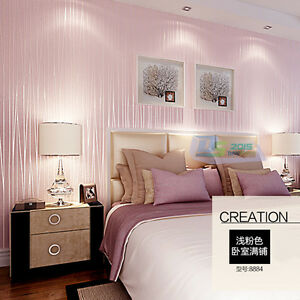 das bild wird geladen 10m 57sf rosa romantisch tapete vliestapete schlafzimmer tv - Tapete Schlafzimmer Romantisch