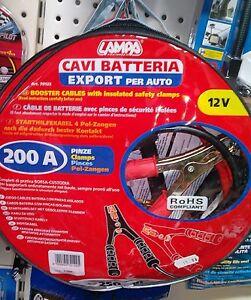 COPPIA CAVI BATTERIA CON PINZA 12V 250CM 200A