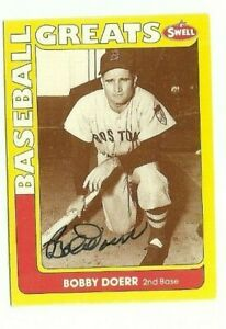 Bobby-Doerr-1991-Swell-signed-auto-autographed-card-Boston-Red-Sox