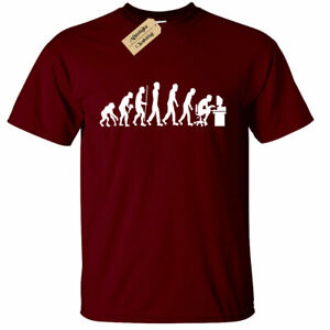 Evolution-of-Geek-T-Shirt-Present-Theory-Funny-xbox-gamer-pc-Mens-Tee