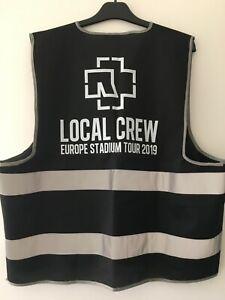 Rammstein-Weste-Local-Crew-Stadium-Tour-schwarz-Gr-XL-XXL-neu-und-ungetragen