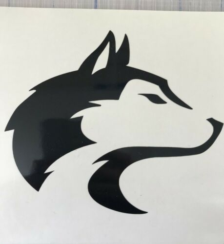 "Husky//Wolf Decal 3.5/"" 4.5/"" 5.5/""Alaskan Malamute Dog Breed Laptop Mug Window Bump"