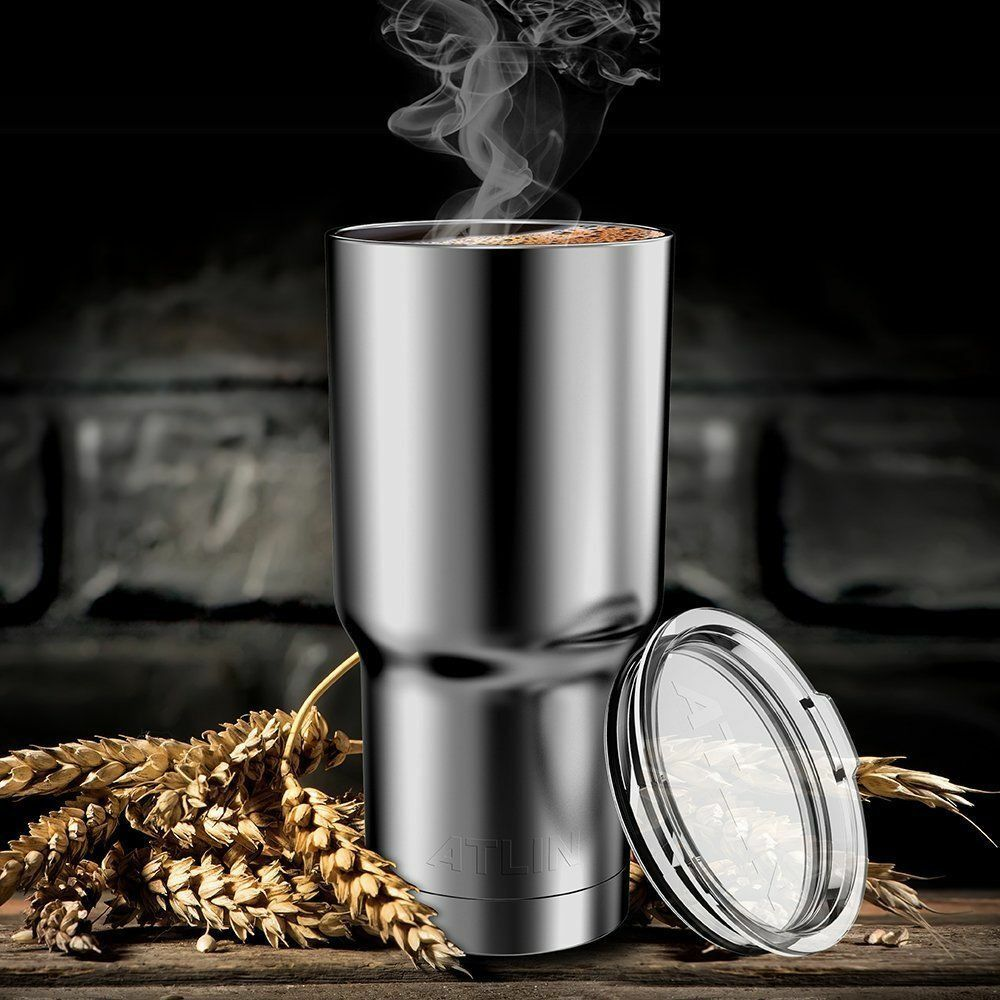 Stainless Steel Tumbler 30 oz Insulated Coffee Cup Travel Mu