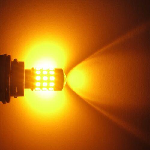 Alla Lighting 2x39-SMD 7443 7440 Amber Yellow LED Turn Signal Blinker Light Bulb