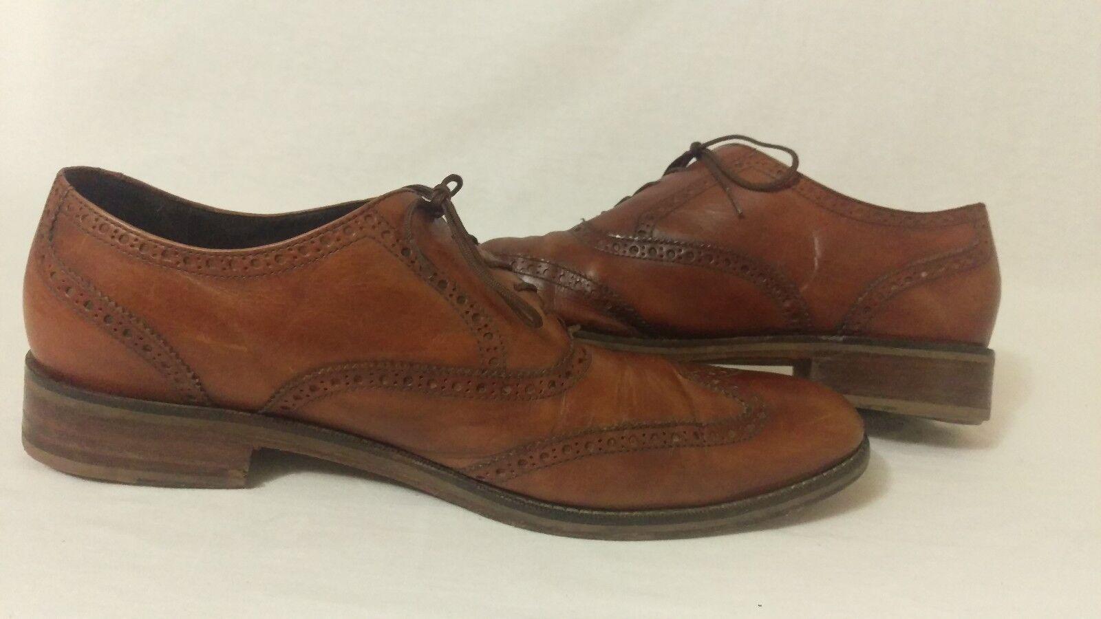 Cole Haan Shoes Air Madison Madison Air British Tan Wingtip Oxford Shoes Uomo 13 m 699b87