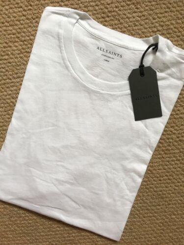 """All Saints BLANC OPTIQUE /""""mayther/"""" S//S Oversize Crew T-shirt Top-Grandes nouvelles balises"""