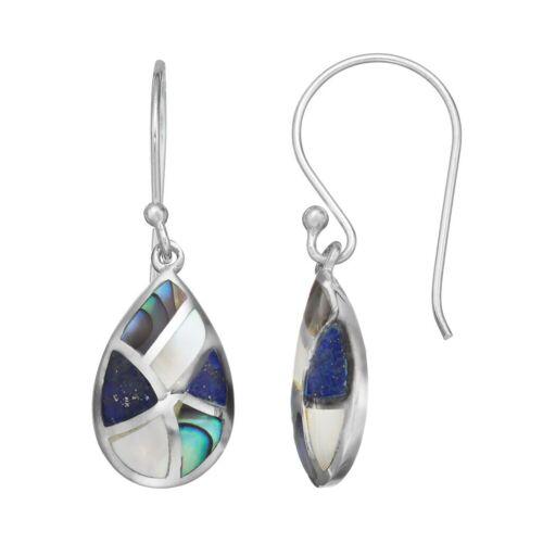 Sterling Silver Teardrop Earring Lapis Lazuli Abal