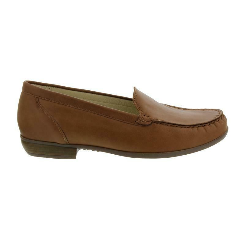 Ranger Hina, Moccasin, Memphis (Smooth Leather), Cognac, wide H 437502-186-082