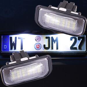 LED Kennzeichenbeleuchtung Nummernschild paßt für Mercedes C Klasse W203