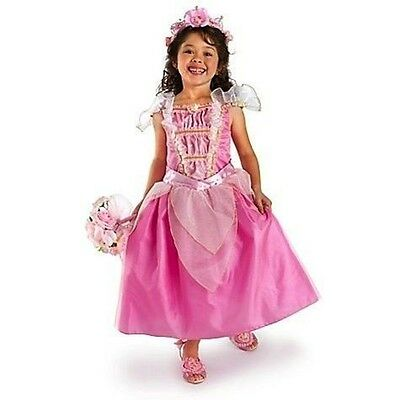 Disney Store Sleeping Beauty Aurora Princess Pink HEART Costume Halloween Dress