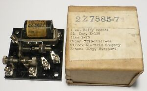 Relais-1RT-4-volts-a-vis-micrometrique-Kurman-WWII-sur-base-bakelite-US-NOS-NIB