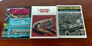 Cool Vintage Lot Of 3 Model Railroad Catalogs Lionel 1979 Bridges Wiring Database Rimengelartorg