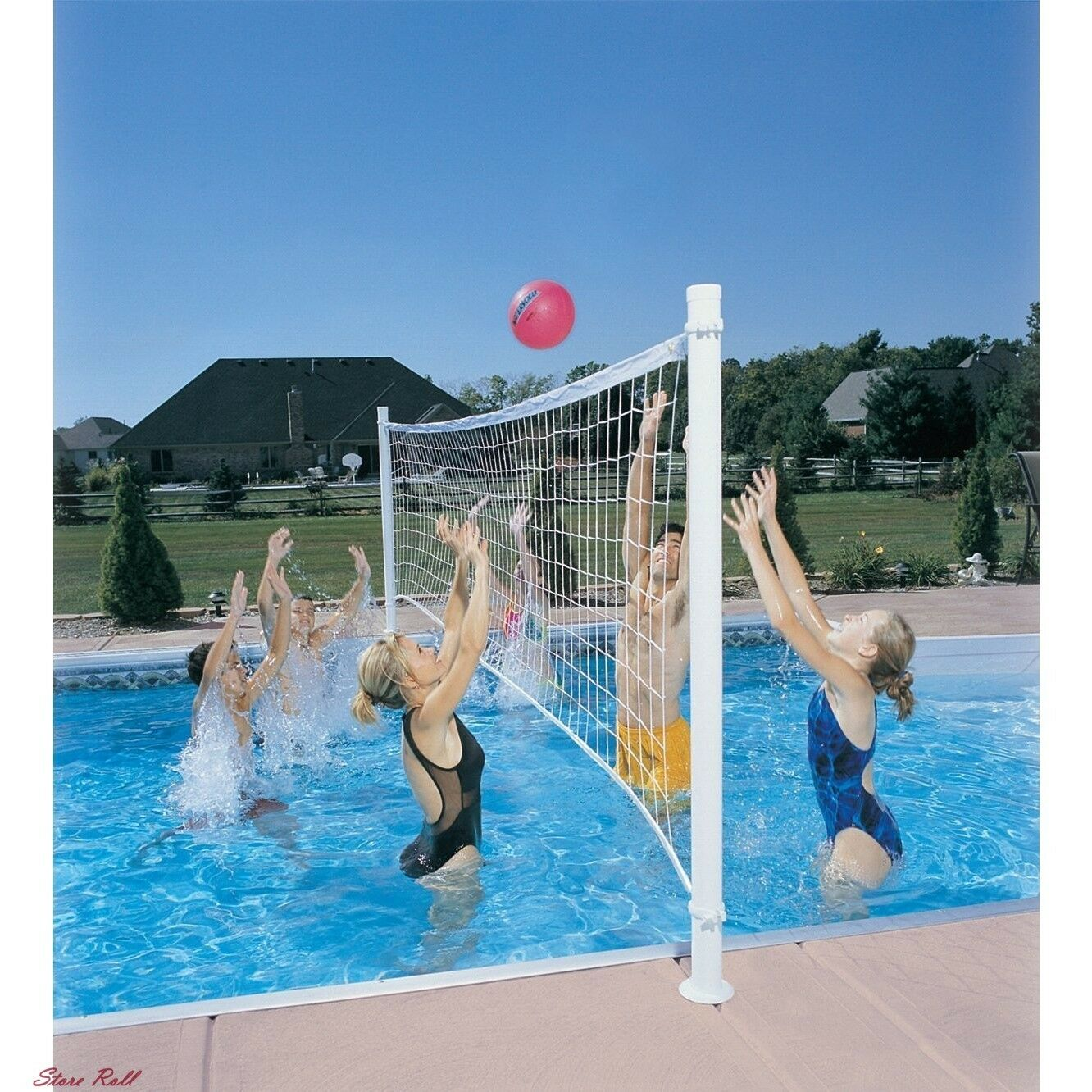 Pool Volleyball Net Swimming Set Sports Outdoor Play Water Fun Games Accessories For Sale Online