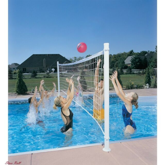Pool Volleyball Net Swimming Set Sports Outdoor Play Water Fun Games  Accessories