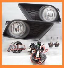 11-14 DODGE CHARGER CLEAR LENS PAIR OEM REPLACEMENT FOG LIGHT LAMP SET W/SWITCH