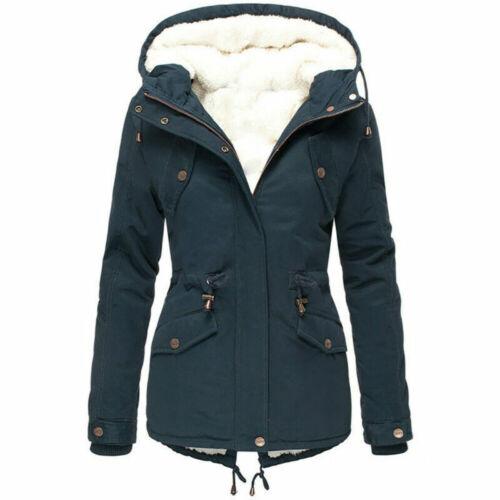Womens Trench Parka Hooded Coat Jacket Outwear Winter Warm Long Overcoat Hoodies