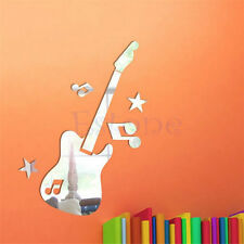 New Mirror Removable Guitar Music Symbols Decal Art Mural Wall DIY Sticker Decor