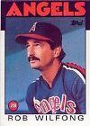 1986 Topps Rob Wilfong #658 Baseball Card