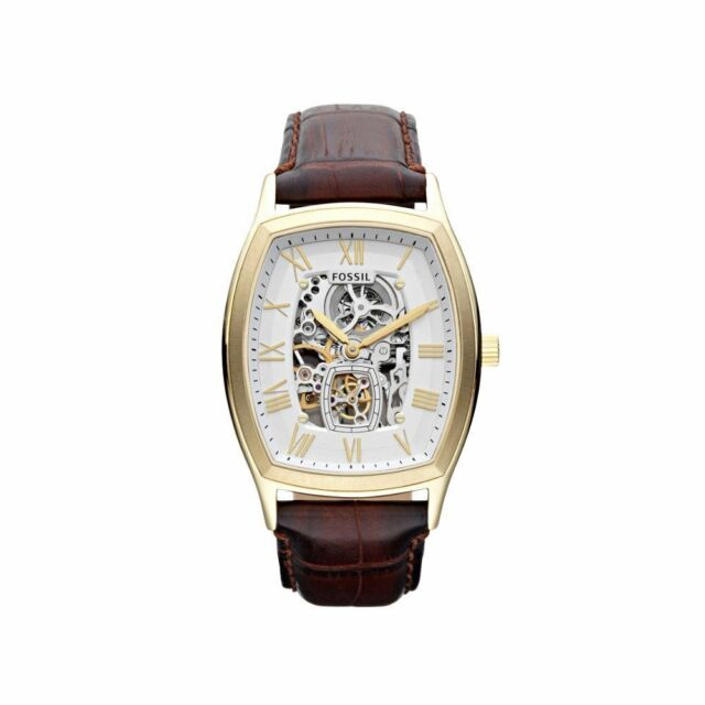 Fossil  Men's Dress Automatic Brown Leather Strap Gold Tone Watch ME3026 $250.00