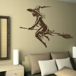 Wicked-Witch-Removable-Vinyl-Decal-Art-Decor-Graphic-Art-Wall-Decal-RA138