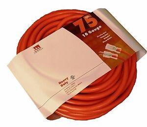 75 foot 10 gauge extension cord ul lit end 3 wire 10 3 contractor ft feet ebay. Black Bedroom Furniture Sets. Home Design Ideas