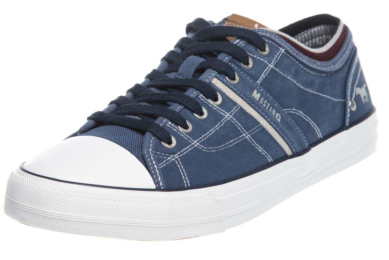 Mustang Shoes cortos en pijama azul oscuro 4127-303-800 grandes zapatos caballero