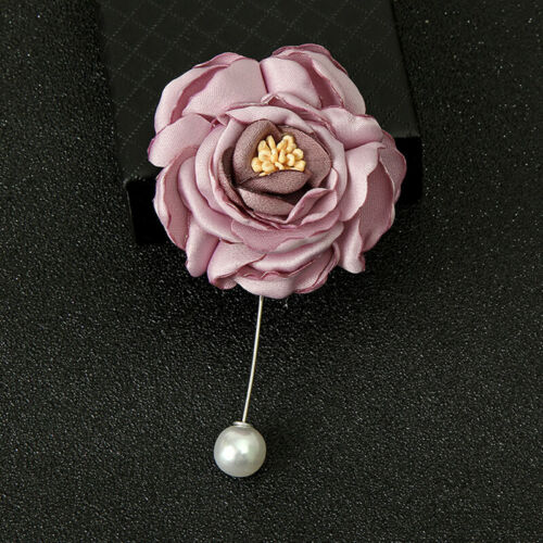 1PC Fashion Women Beauty Cloth Brooch Jewelry Rose Flower Elegant Brooch Pins