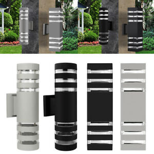 Outdoor-LED-Exterior-Wall-Light-Sconce-Waterproof-UP-Down-Dual-Head-Wall-Lamp