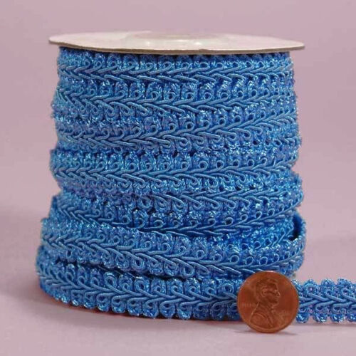 Gimp Braid Trim 3//8 and 1//2 inch wide select color /& width-selling by the yard