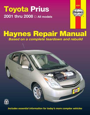 Toyota Prius Repair Manual Haynes Manual Workshop Manual 2001-2008