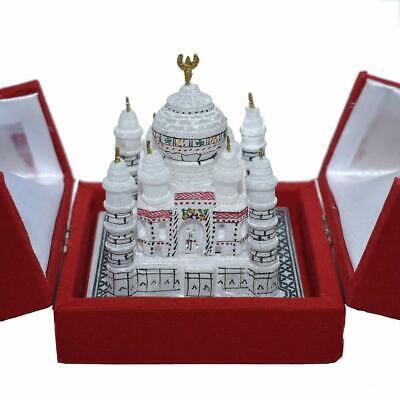 Handmade Marble Taj Mahal Statue Memorable Gift Show Piece Office Home Decor