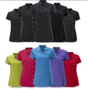 Salon tunic beauty therapist nail spa massage uniform for Spa ladies uniform
