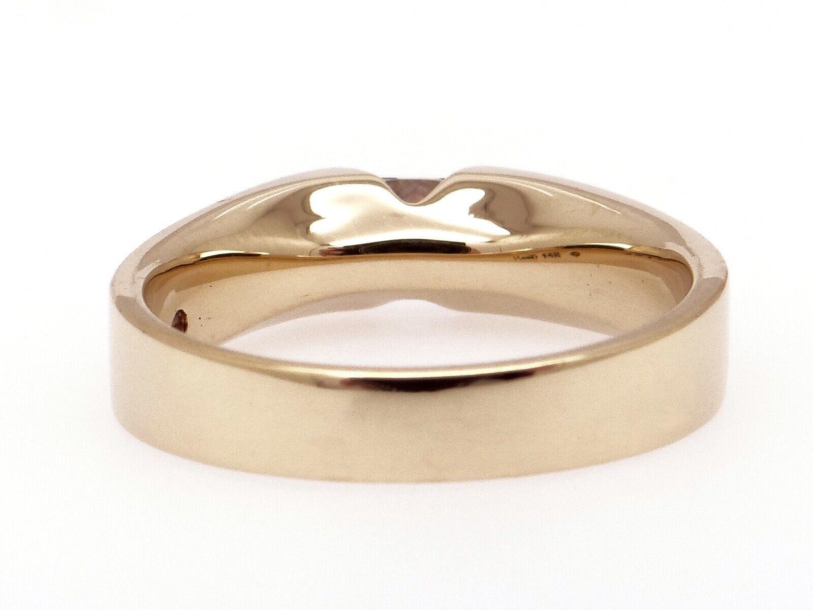 Unisex 14k Yellow Gold .54ct Princess Cut Diamond… - image 3