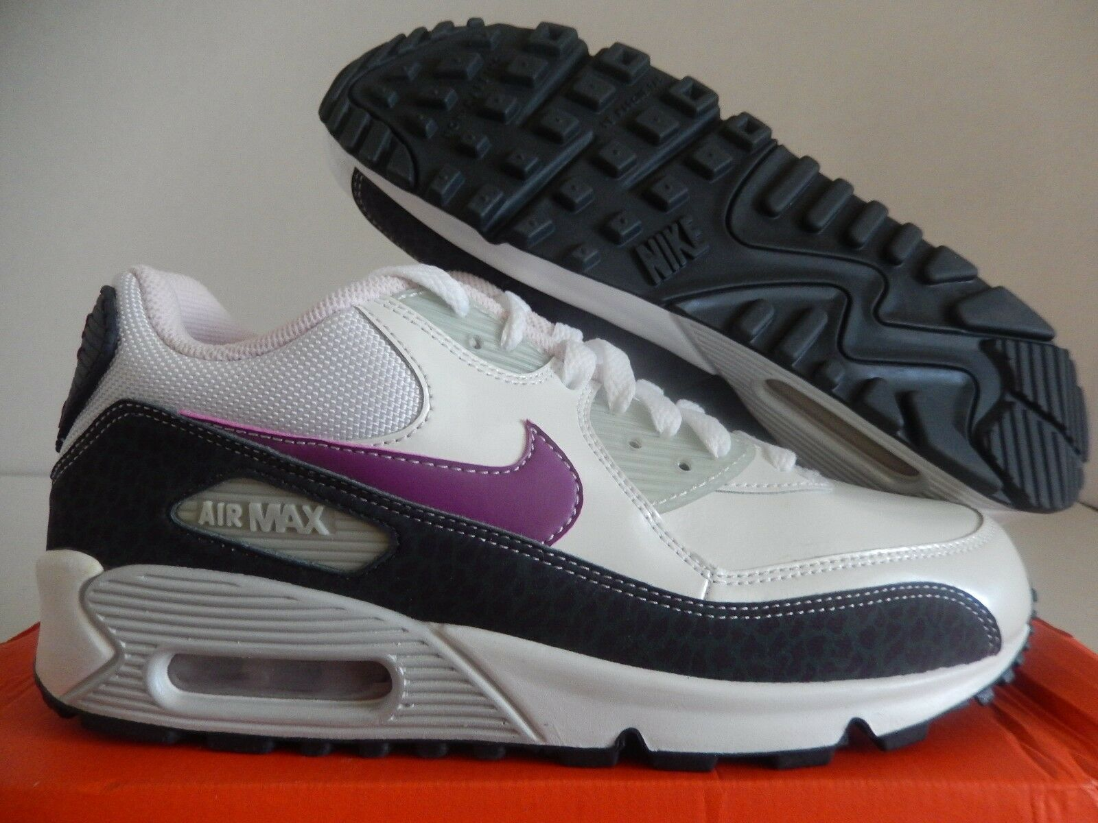NIKE AIR MAX 90 CL (GS) (GS) (GS) SAIL-BROWN-PINK SZ 6Y-WOMENS SZ 7.5 [312153-152] 4e0fda