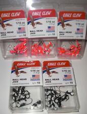 NEW  1//16 OZ  NAIL HEAD JIGS with EAGLE CLAW HOOKS 50 QTY