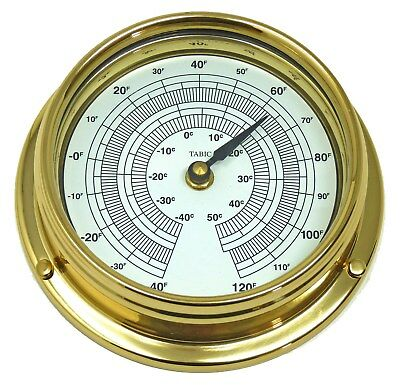 Weighs Handmade In England Matching In Colour Tabic Thermometer Solid Brass 1/2kg