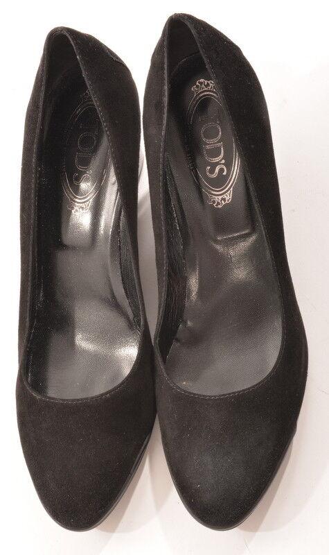 TOD TODS PUMPS scarpe VELOULEDER nero KEILABSATZ GR 41