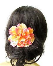 Large Orange Peony Flower Hair Comb Bridesmaid Big Rockabilly 1950s Rose 1737