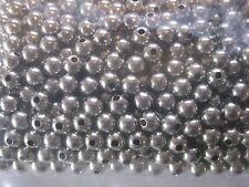 "50 3/16"" Solid Nickel Plated Brass Beads<U.S. Made>for Fishing applications"