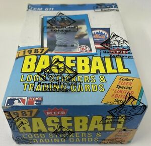 1987 FLEER MLB Baseball Unopened Sealed HOBBY Trading Card BOX 36 Wax PACKS BBCE